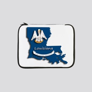 "Louisiana State Pelican Flag 13"" Laptop Sleeve"