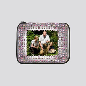"""Personalizable Pink Bling Frame 13"""" Laptop Sleeve"""