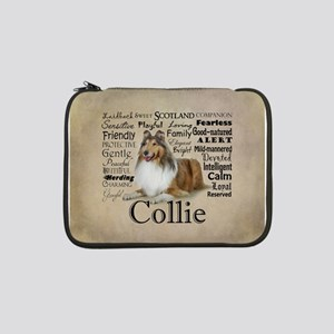 "Collie Traits 13"" Laptop Sleeve"