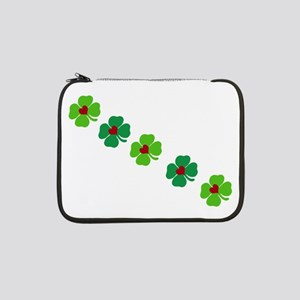 """Lucky Irish Clover 13"""" Laptop Sleeve"""