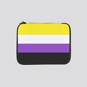 """Solid Non-Binary Pride Flag 13"""" Laptop Sleeve"""