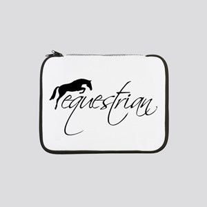 """Equestrian w/ Jumping Horse 13"""" Laptop Sleeve"""