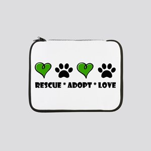 "Rescue*Adopt*Love 13"" Laptop Sleeve"