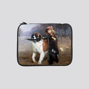 "A Little Girl and Her Dog 13"" Laptop Sleeve"