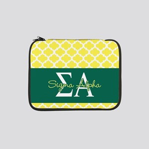 "Sigma Alpha Pattern 13"" Laptop Sleeve"