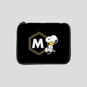 """Snoopy Woodstock Monogrammed 13"""" Laptop Sleeve"""