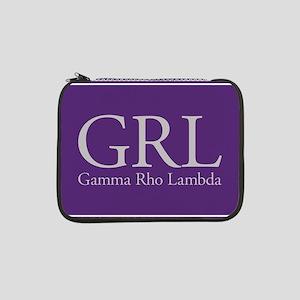 "Gamma Rho Lambda GRL 13"" Laptop Sleeve"