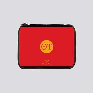 "Theta Tau Fraternity Letters in 13"" Laptop Sleeve"