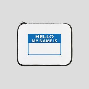 "NAME DROP NAME TAG 13"" Laptop Sleeve"
