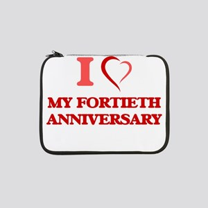 "I Love My Fortieth Anniversary 13"" Laptop Sleeve"
