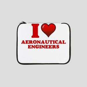 """I love Aeronautical Engineers 13"""" Laptop Sleeve"""