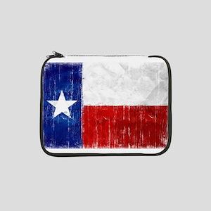 "Texas Flag Distressed 13"" Laptop Sleeve"