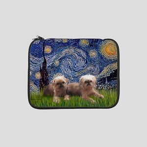 "Starry Night - Two Brussells Gri 13"" Laptop Sleeve"