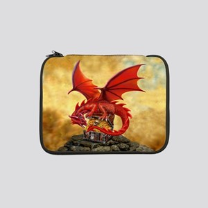 """Red Dragon's Treasure Chest 13"""" Laptop Sleeve"""