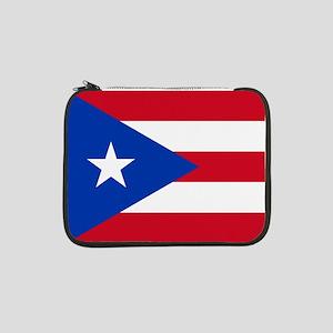 "Flag of Puerto Rico 13"" Laptop Sleeve"