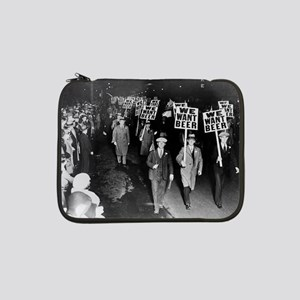 """We Want Beer! Protest 13"""" Laptop Sleeve"""