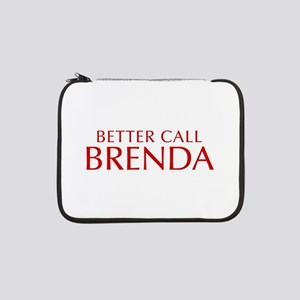 "BETTER CALL BRENDA-Opt red2 550 13"" Laptop Sleeve"