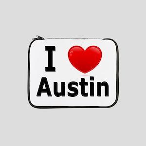 "I Love Austin 13"" Laptop Sleeve"