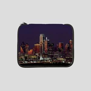 "Dallas Skyline at Night 13"" Laptop Sleeve"
