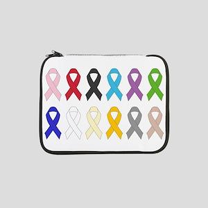 "Awareness Ribbons 13"" Laptop Sleeve"