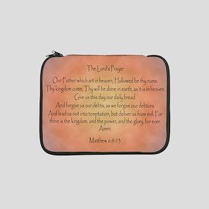 "The Lord's Prayer Christian 13"" Laptop Sleeve"