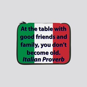 """At The Table With Good Friends 13"""" Laptop Sleeve"""