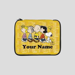 "Peanuts Walking Personalized 13"" Laptop Sleeve"