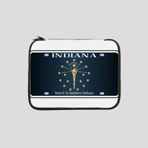 """Indiana Flag License Plate 13"""" Laptop Sleeve"""