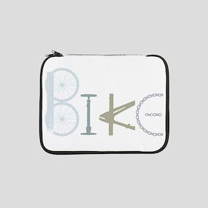 "Bike Word from Bike Parts 13"" Laptop Sleeve"