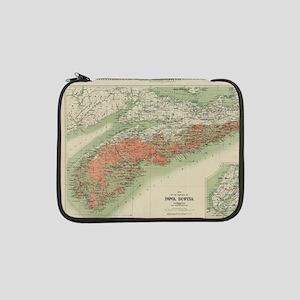"Vintage Geological Map of Nova S 13"" Laptop Sleeve"