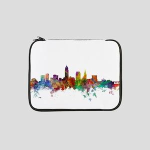 """Cleveland Ohio Skyline 13"""" Laptop Sleeve"""