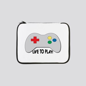 """Live To Play! 13"""" Laptop Sleeve"""