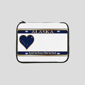 "Alaska State License Plate 13"" Laptop Sleeve"