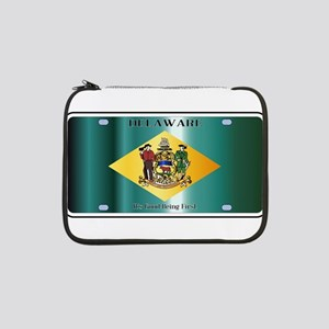 "Delaware State License Plate Fla 13"" Laptop Sleeve"
