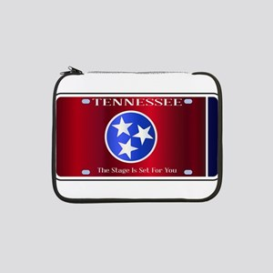 """Tennessee State License Plate Fl 13"""" Laptop Sleeve"""