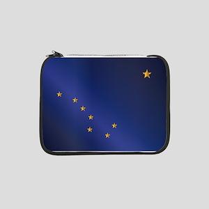 "Flag of Alaska Gloss 13"" Laptop Sleeve"