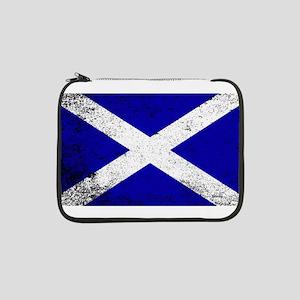 """Scotish Flag Grunge 13"""" Laptop Sleeve"""