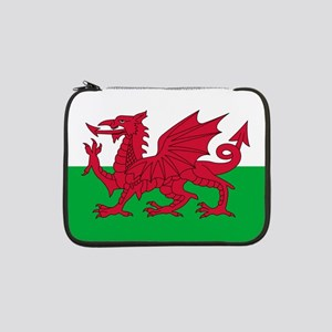 "Welsh Flag of Wales 13"" Laptop Sleeve"