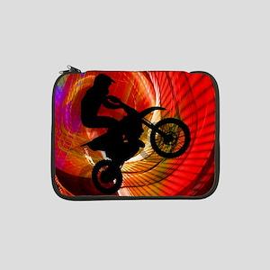 """Motocross Light Streaks in a Win 13"""" Laptop Sleeve"""