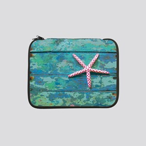 """Starfish and Turquoise 13"""" Laptop Sleeve"""
