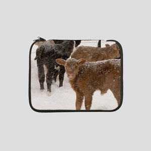 "Calves in The Snow 13"" Laptop Sleeve"