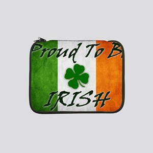 "irish_flag_banner_2w 13"" Laptop Sleeve"