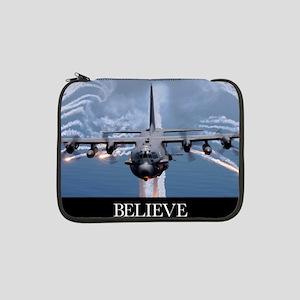 "Military Poster: An AC-130H Guns 13"" Laptop Sleeve"