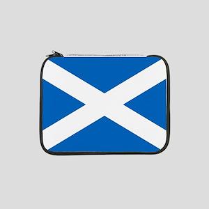 """Scottish Flag 13"""" Laptop Sleeve"""