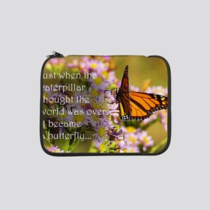 """Butterfly Proverb 13"""" Laptop Sleeve"""