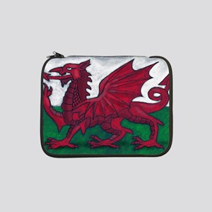 "Wales Flag 13"" Laptop Sleeve"