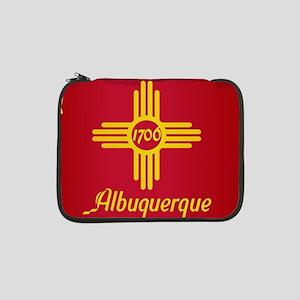 "Albuquerque City Flag 13"" Laptop Sleeve"