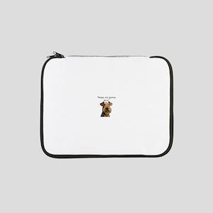 """Airedale Terrier Stubborn Sayings 13"""" Laptop Sleev"""
