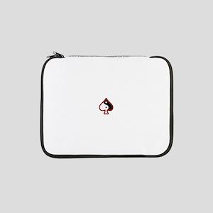 "Red Border QoS Swirl 13"" Laptop Sleeve"