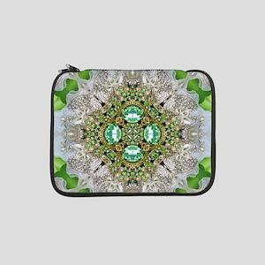 "green  diamond bling  13"" Laptop Sleeve"